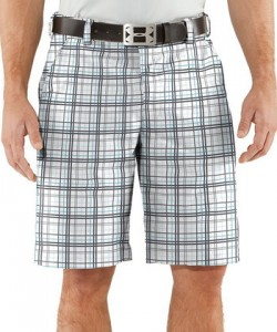 Plaid Golf Shorts