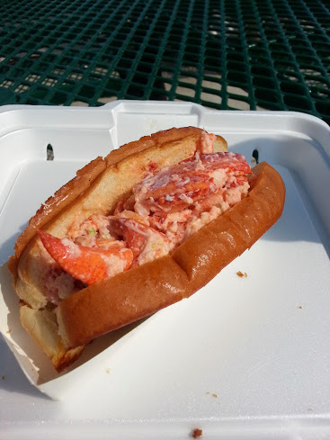 Lobster Roll at Kellys Revere Beach