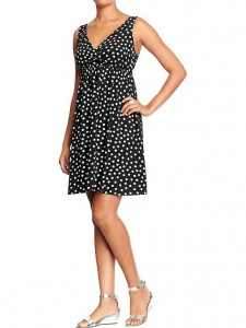 Cross Front Polka Dot Dress from Old Navy