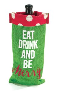 eat drink and be merry wine bag