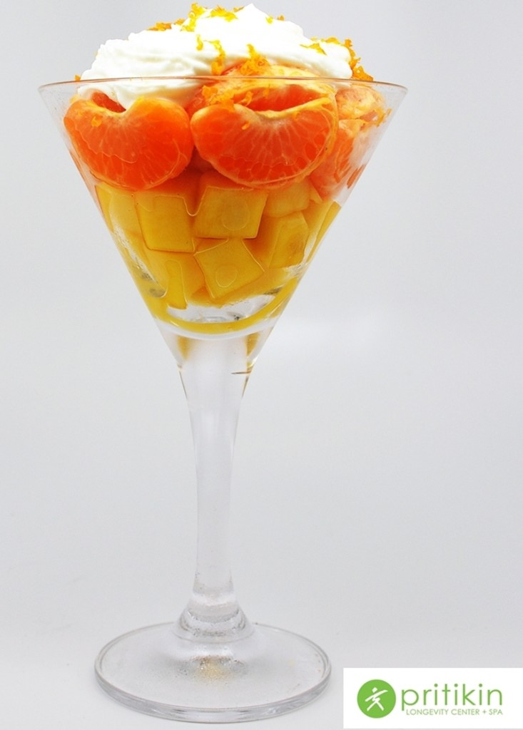 Candy Corn Fruit Cup