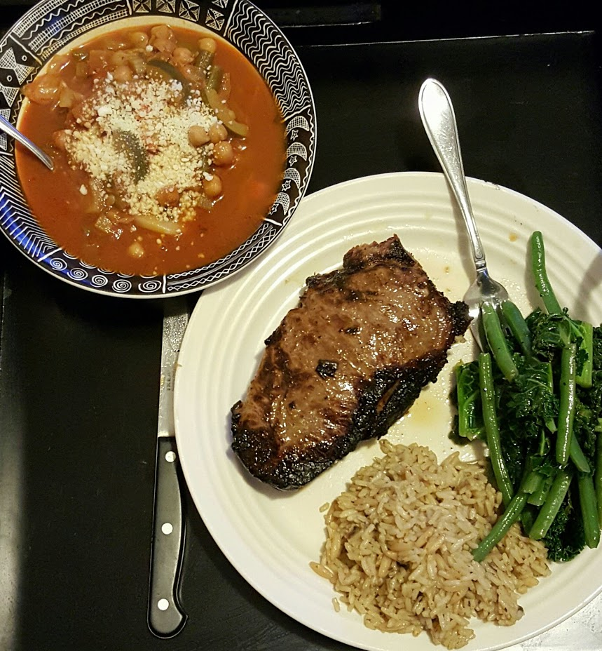 Soup and Steak Dinner