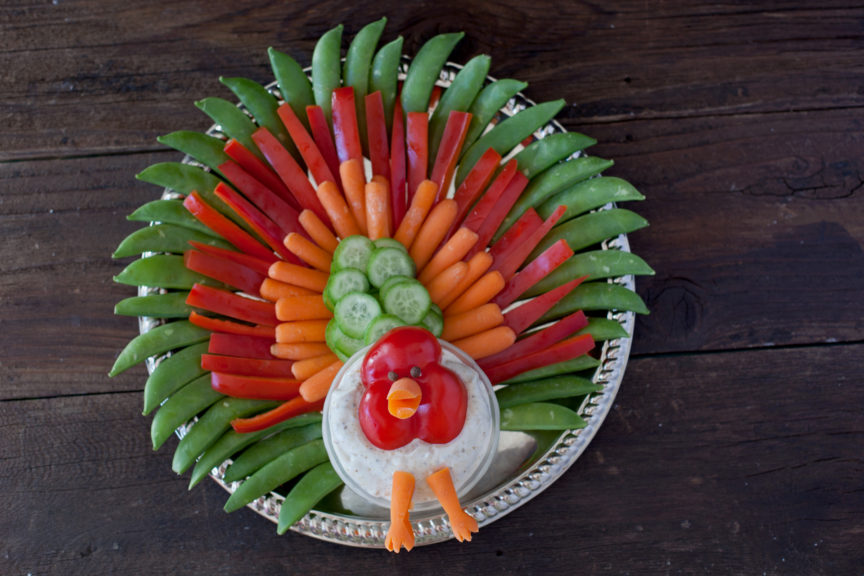 turkey-veggie-platter