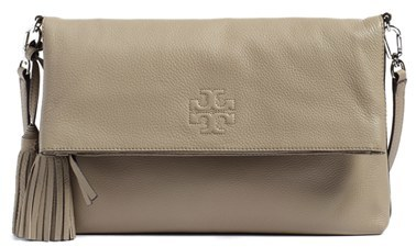 TORY BURCH 'THEA' LEATHER FOLDOVER CROSSBODY BAG