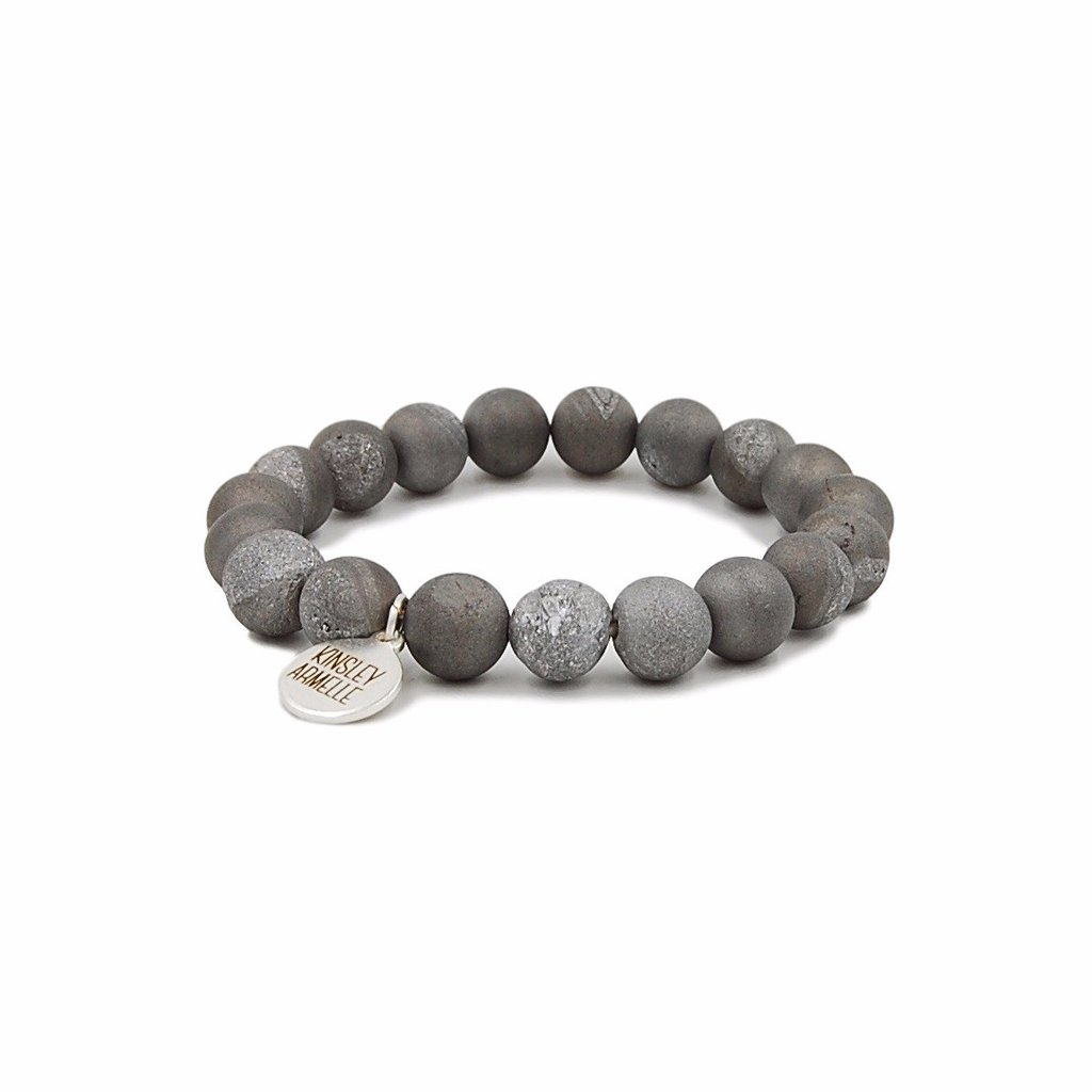 Geode Collection - Frost Silver Bracelet